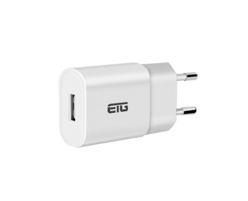 5V2A USB Charger with EU Plug Slim White